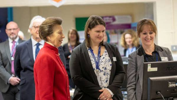 HRH Princess Anne visits the Storybook Dads HQ